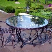 Столы декоративные кованые столы Винница фото