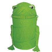Корзина для игрушек Лягушка зеленая фото