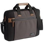Сумка для ноутбука Sideways Laptop Bag, черная с серым фото
