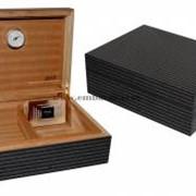 Хьюмидор JEMAR, для 70 сигар, серая полоса фото