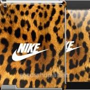 Чехол на iPad 2/3/4 Nike на леопардовой шкуре 3082c-25