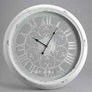 Часы кованные со стеклом фото