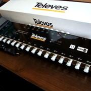 Мультисвитч оконечный 9Х16 с блоком питания, 7439, для ТВ-сигнала 170-2250 МГц фото