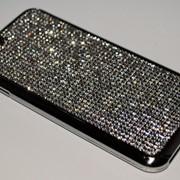 Чехол на Айфон 6/6s ТПУ Swarovski Серебро фото