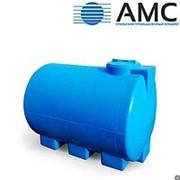 Бак пластиковый 1000 литров горизонтальный цилиндрический с крышкой