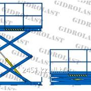 Стол подъемный гидравлический двухножничный Gidrolast 2X1300.800.1000.1280 фото