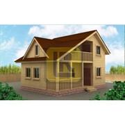 Каркасно-щитовой дом Проект №11 6х8 с террасой фото