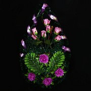 Венок ритуальный роза 85см 9066-067-343 фото