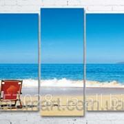Модульна картина на полотні Морський пляж код КМ100200(176)-001 фото