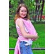 Слинг-шарф из шарфовой ткани Rose розовый белый фото