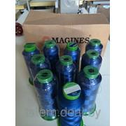 Вышивальные нитки Magines 135/D2 черные 2500 м (Турция) фото