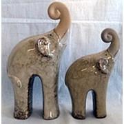 Сувенир Слоны 21х17 см. фото