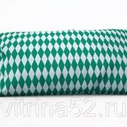 """Декоративная подушка """"Зеленые ромбы"""" фото"""