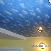Натяжные потолки глянцевые облака (Франция) фото