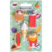 "Набор ластиков Darvish ""Fastfood"" 5 шт., картон. блистер, европодвес, DV-11968 фото"