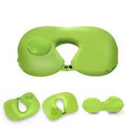 Надувная подушка для шеи с ручной накачкой RH34, зелёный фото