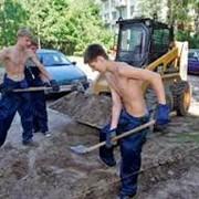 Земляные работы. Траншеи, колодцы, пруды, фундамент фото
