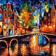 Картина по номера - Л.Афремов Мост в Амстердаме фото