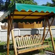 Садовые качели деревянные фото