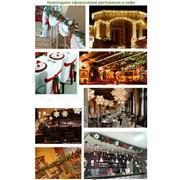 Новогоднее оформление ресторанов и кафе фото
