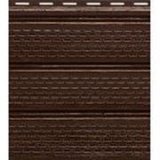 Софит коричневый полностью перфорированный фото