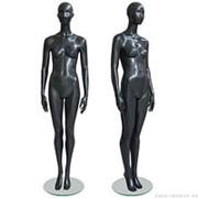 Манекен женский, абстрактный, для одежды в полный рост, на круглой подставке, цвет черный, стоячий, классическая поза. MD-Solo Type 04F-06M фото