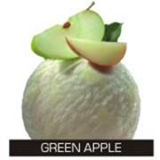 Яблочный сорбет с кусочками сочных зеленых яблок фото