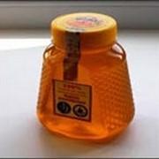 Белый мед ПЭТ - банка Медовик, большая 0,5л фото