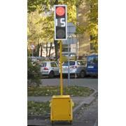 Переносной светодиодный светофор (Комплект 2 шт) фото