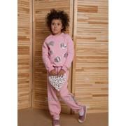 Костюм спортивный розовый для девочек фото