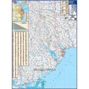 Карта автодорог - Одесская область 140х100см М1:200 000 ламинированная Код товара 222709 фото