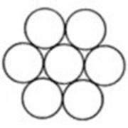 Канат стальной одинарной свивки типа ЛК-О ГОСТ 3062-80 DIN 3052 1х7 (1+6) фото