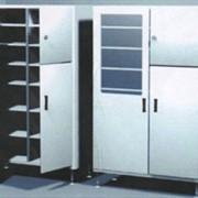 Шкаф медицинский двухсекционный фото