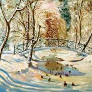 Зимний пейзаж маслом на холсте, Минск Парк Горького фото