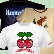 Индивидуальные футболки с полноцветным изображением фото