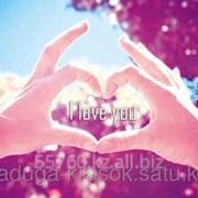 Картина-мозаика стразами в 3Д I love you 50х37 см фото
