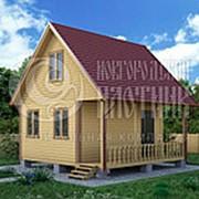 Проект Д-62. Дом из бруса 6х6 м. фото