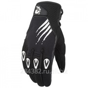 FURYGAN Перчатки ROCKET текстиль, цвет Черный/Белый фото