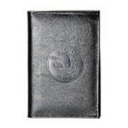 Бумажник водителя БВЛ5Л-26 кожаный черный SKODA фото