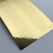 Металлизированные наклейки №102 золото ххх фото