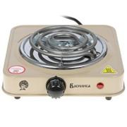 Плитка электрическая ВАСИЛИСА ВА-901 спираль, одноконфорочная, бежевый, 1000 Вт фото