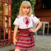 Плахта с вышивкой детская тканая фото