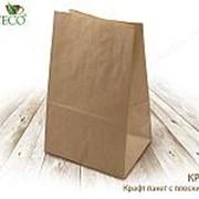 Крафт пакет с пр. дн., 240*140*400 мм,400шт(бумага) - бумажные крафт пакеты фото
