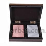 Две колоды карт B11L в деревянной шкатулке фото