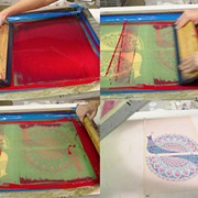 Шелкотрафаретная печать, Услуги трафаретной печати, набивки на текстильных изделиях фото