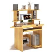 Компьютерный стол с полками для дисков фото