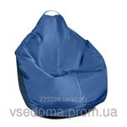 Синее кресло-мешок груша 100*75 см из ткани Оксфорд фото