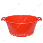 Таз полиэтиленовый для пищевых продуктов 28л овальный цветной Горизонт №438380 фото