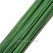 Проволока темно-зеленая покрытая бумагой #26, 36 см фото