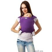 """Слинг-шарф трикотажный """"Аметист"""", фиолетовый фото"""